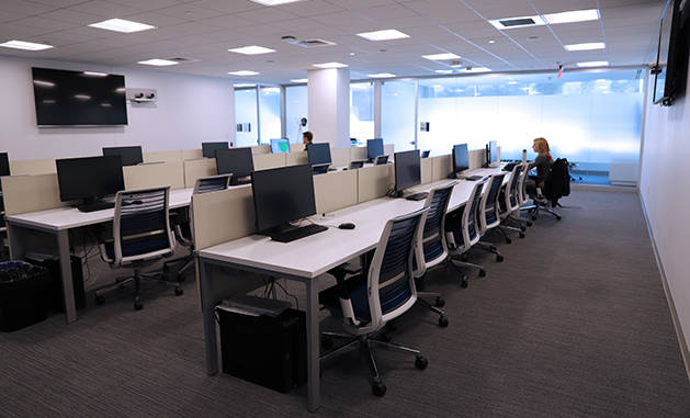 CMSC computer lab with 12 workstations